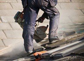 Sheffield roofer working